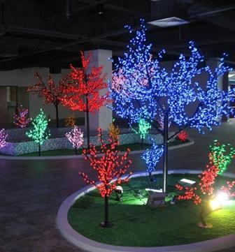 """Светодиодное дерево """"Сакура"""", высота 2.4 метра, диаметр 2 метра, 1728 светодиодов, цвет синий"""