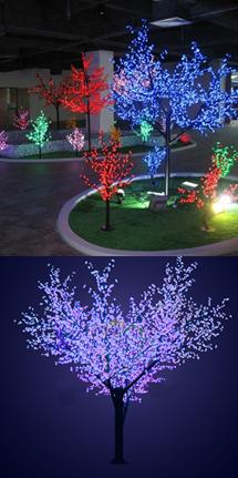 """Светодиодное дерево """"Сакура"""", высота 2.4 метра, диаметр 2 метра, 1728 светодиодов, цвет красный"""
