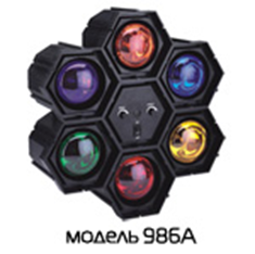 Цветомузыка 220V 40W Funray-986А. Музыкальный цветок.  (шт.) лампы накаливания