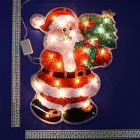 Панно световое Дед-мороз с елкой