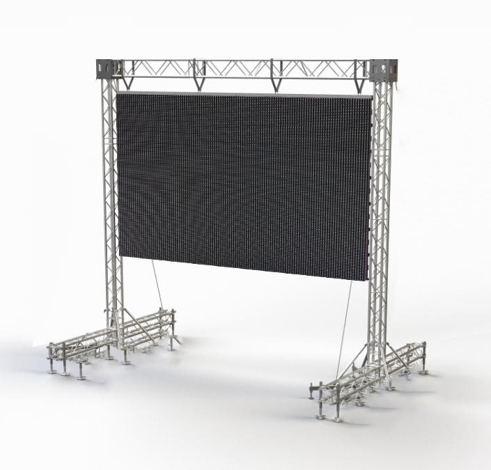 Рекламный светодиодный легкоразборный прокатный экран