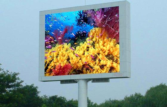 Светодиодный уличный рекламный экран 4 х 3 м P10